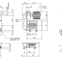 Чертеж компактной воздуходувки ACI EP10A
