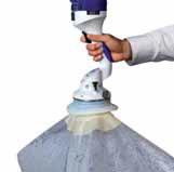 Круглый захват с юбкой для оптимального уплотнения с пластиковыми мешками и изделий в термоусадочной упаковке.