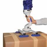Четверной захват для больших картонных коробок, деревянных коробок и других плоских изделий.