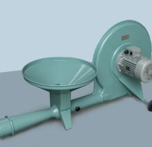 Воздуходувка для пневмотранспорта зерна со стационарным инжекторным шлюзом TKI 150
