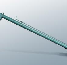 Трубчатый шнек TS 130 с защитной корзиной и регулированием впуска