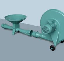 Воздуходувка для пневмотранспорта зерна с инжекторным шлюзом в раздельном исполнении TKI 150