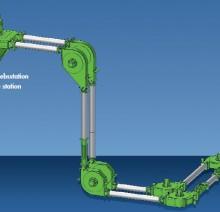 Приводная установка 180 градусов в трубчатом цепном транспортере