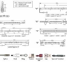 Типы соединений инфракрасных ламп