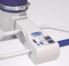 Вакуумный манипулятор с присоской для металических пивных кег. Управление двумя руками и регулировкой скорости подъема